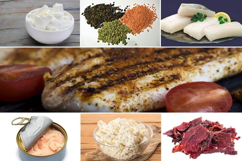 أنواع أكل غنية بالبروتين
